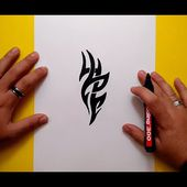 Como dibujar un tribal paso a paso 134 | How to draw one tribal 134