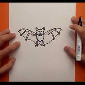 Como dibujar un murcielago paso a paso 6 | How to draw a bat 6