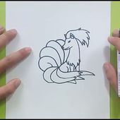 Como dibujar a Ninetales paso a paso - Pokemon | How to draw Ninetales - Pokemon