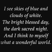 Louis Armstrong - What A Wonderful World (Lyrics)