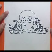 Como dibujar un pulpo paso a paso 5 | How to draw a octopus 5