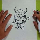 Como dibujar un monstruo paso a paso 8 | How to draw a monster 8
