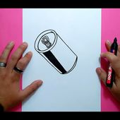 Como dibujar una lata de refresco paso a paso 2 | How to draw a can of soda 2