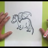 Como dibujar un dragon paso a paso 10 | How to draw one dragon 10