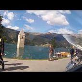16 Goldwing Unsersbande Tirol 2015 Arrivee au Lac de Resia