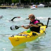 THIERRY CORBALAN TRAVERSE LE LAC D'ANNECY MAI 2016