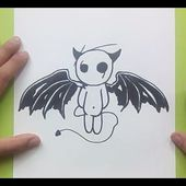 Como dibujar un diablo paso a paso | How to draw a devil