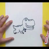 Como dibujar un dinosaurio paso a paso 15 | How to draw a dinosaur 15