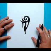 Como dibujar un tribal paso a paso 135 | How to draw one tribal 135