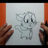 Como dibujar un gato paso a paso 21 | How to draw a cat 21