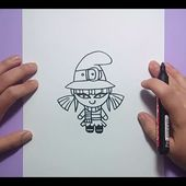 Como dibujar una bruja paso a paso 8 | How to draw a witch 8