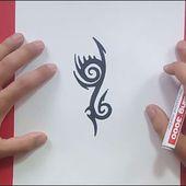 Como dibujar un tribal paso a paso 153 | How to draw one tribal 153