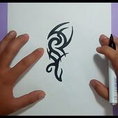 Como dibujar un tribal paso a paso 117 | How to draw one tribal 117