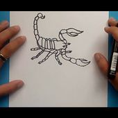 Como dibujar un escorpion paso a paso 2 | How to draw a scorpion 2
