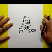 Como dibujar a Homer Zombie paso a paso - Los Simpsons | How to draw Homer Zombie - The Simpsons