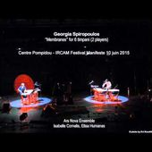 Georgia Spiropoulos : Membranes, for 6 timpani (2 players) 2015