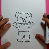 Como dibujar un oso de peluche paso a paso 18 | How to draw a teddy bear 18