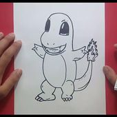 Como dibujar a Charmander paso a paso - Pokemon | How to draw Charmander - Pokemon