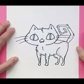 Como dibujar un gato paso a paso 26 | How to draw a cat 26