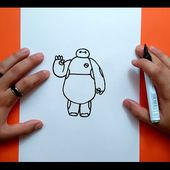 Como dibujar a Baymax paso a paso - Big Hero 6 | How to draw Baymax - Big Hero 6