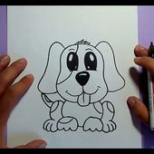 Como dibujar un perro paso a paso 23 | How to draw a dog 23