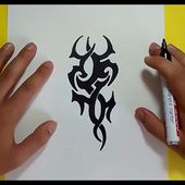 Como dibujar un tribal paso a paso 115 | How to draw one tribal 115