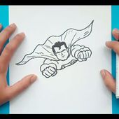 Como dibujar a Superman paso a paso - Superman | How to draw Superman - Superman