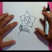 Como dibujar una flor paso a paso 12 | How to draw a flower 12
