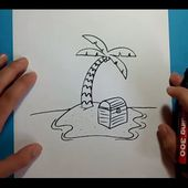 Como dibujar una palmera paso a paso 3 | How to draw a palm tree 3