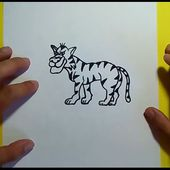 Como dibujar un tigre paso a paso 4 | How to draw a tiger 4