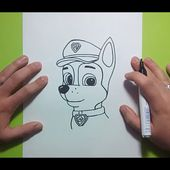 Como dibujar a Chase paso a paso - La Patrulla Canina | How to draw Chase - Canine Patrol