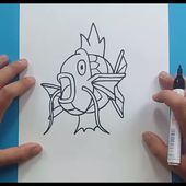 Como dibujar a Magikarp paso a paso - Pokemon | How to draw Magikarp - Pokemon