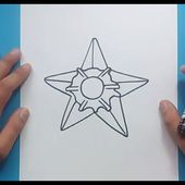 Como dibujar a Staryu paso a paso - Pokemon | How to draw Staryu - Pokemon