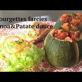 Courgettes Farcies: quinoa patate douce