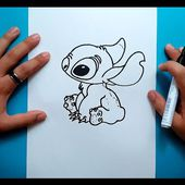 Como dibujar a Stitch paso a paso - Lilo y Stitch | How to draw Stitch - Lilo & Stitch