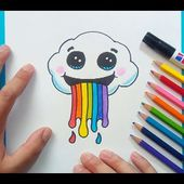 Como dibujar una nube paso a paso | How to draw a cloud
