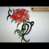 Como dibujar una rosa tribal - Art Academy Atelier Wii U | How to draw a tribal rose