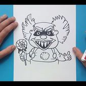 Como dibujar un payaso terrorifico paso a paso | How to draw a horror clown