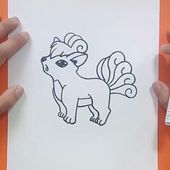 Como dibujar a Vulpix paso a paso - Pokemon | How to draw Vulpix - Pokemon