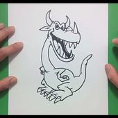 Como dibujar un dragon paso a paso 14 | How to draw one dragon 14