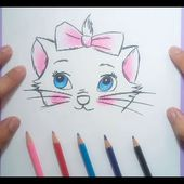 Como dibujar una gatita paso a paso | How to draw a kitten