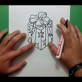 Como dibujar un regalo paso a paso | How to draw a gift