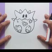 Como dibujar a Togepi paso a paso - Pokemon | How to draw Togepi - Pokemon