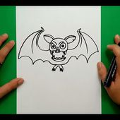 Como dibujar un murcielago paso a paso 7 | How to draw a bat 7