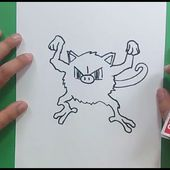 Como dibujar a Mankey paso a paso - Pokemon | How to draw Mankey - Pokemon