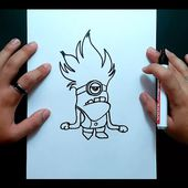 Como dibujar un minion paso a paso 2 - Gru mi villano favorito | How to draw a minion 2