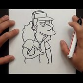 Como dibujar a Otto paso a paso - Los Simpsons | How to draw Otto - The Simpsons