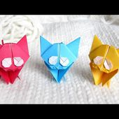Cute Origami Kitten � Cat Easy Tutorial and Instructions