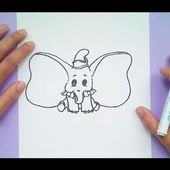 Como dibujar a Dumbo paso a paso - Dumbo | How to draw Dumbo - Dumbo