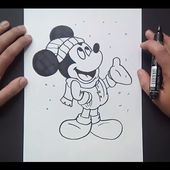 Como dibujar a Mickey Mouse paso a paso 4 - Disney | How to draw Mickey Mouse 4 - Disney